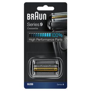 Braun 92B, Schwarz, Kunststoff, Metall, Deutschland, geschikt voor 9299s, 9296cc, 9295cc, 9291cc, 9290cc, 9280cc, 9260s, 9240s, 9090cc, 9095cc, 9075cc,..., 19 mm, 80 mm