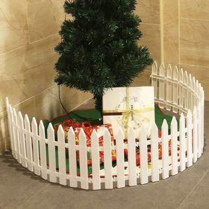 1 SET Gartenzaun Zierzaun Friesenzaun Lattenzaun weiß Weihnachtsbaum Zaun Nachbildung