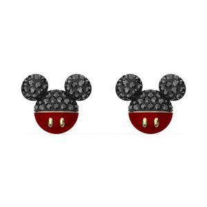 Swarovski Ohrstecker 5566691 Mickey, schwarz, vergoldet