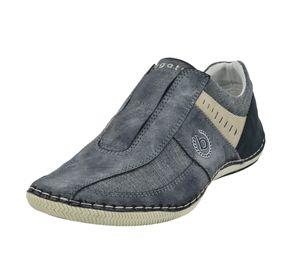 bugatti Herren Sneaker Slip Ons Synthetikkombination blau 48
