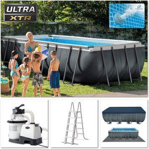 Intex Ultra XTR Frame Pool Set   549 x 274 x 132 cm   Sandfilter Leiter   26356