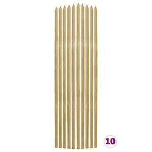 vidaXL Pflanzen-Rankstäbe 10 Stk. 2,8×2,8×150 cm Kiefernholz