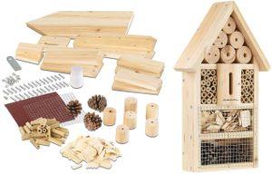 Bausatz Kinder Insektenhaus Insekten Hotel Nisthilfe Nistkasten Schutz für Nützlinge Bienen