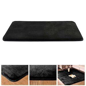 Speicher Schaum Bad Matte Nicht Absorbent Super Gemütliche Samt Bad Teppich 2 Farbe Schwarz 50x80cm