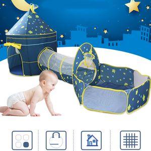 3 in 1 Kinder Spielzelt Kinderzelt +Tunnel+Zelt+Ball Pit Bällebad Spielhaus Playhouse Babyzelt