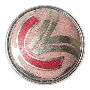 Noosa Chunk Ainu Pink/ Silver- Powderstone/ Metal (rosa/ silber)