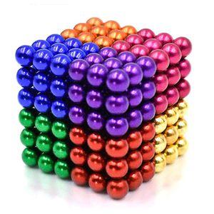 Magnetkugeln Bunt, Set 216 Stück / Größe: 5mm Ø, Stresskiller, Anti Stress Geschenkidee, Magnet Balls, Magnetkugeln Zappeln Spielzeug