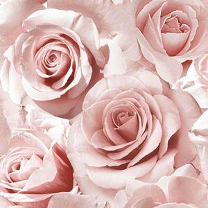 Madison Glitter Blumen-Tapete mit Rosenblüten Muriva Raspberry