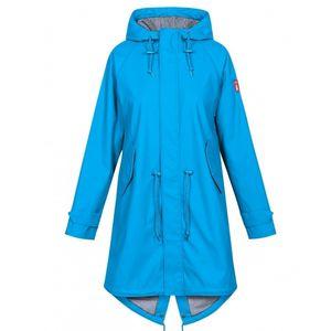 derbe Travel Friese Fisher striped Regenmantel Damen swedish blue blau  42