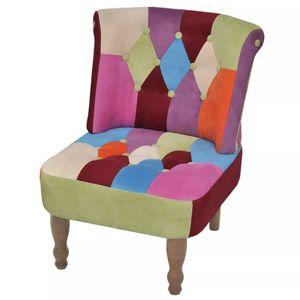 【Neu】Sessel Französischer Sessel mit Patchwork-Design StoffMöbel-Stühle-Sessel im Landhaus-Stil