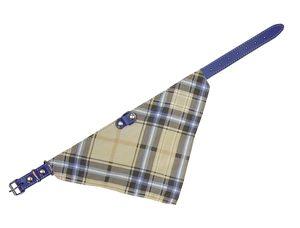 Nobby Halsband mit Tuch, blau, L: 35 cm; 74201-51