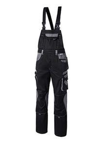 """PIONIER Latzhose """"Tools"""", 65% Polyester, 35% Baumwolle, Hochgezogener Nierenschutz, Stretcheinsatz, verstellbare Träger,"""