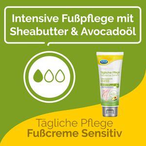 Scholl Tägliche Pflege Sensitive Fußcreme Creme Fußbalsam Fußpflege 75ml