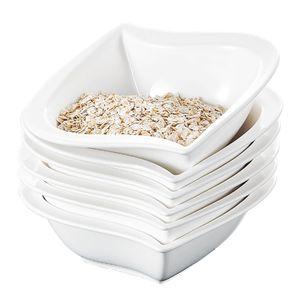 MALACASA, Serie Elvira, 6 Tlg. Set Porzellan Schüssel Schalen Müslischüssel Reisschüssel Salatschüsseln Dessertschalen für 6 Personen