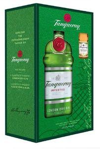 Tanqueray Imported London Dry Gin mit Sevilla Miniatur Geschenkset Promo | 47,3 % vol | 0,7 l + 5 cl