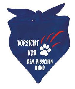Hunde Dreiecks Halstuch (Fb: navy) Vorsicht vor dem bisschen Hund