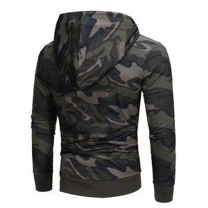 Herren Langarm Camouflage Hoodie Hooded Sweatshirt Tops Jackenmantel Outwear HQL70731503 Größe:XL,Farbe:Bunt