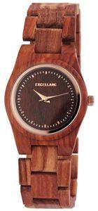 Excellanc Uhr Holz Armbanduhr rotbraun 1800193-004 Damenuhr
