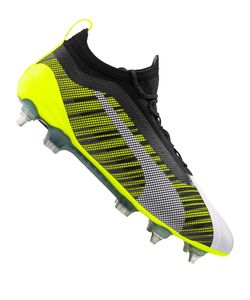 PUMA ONE 5.1 MxSG Low Boot Fußballschuhe Weiss-Schwarz-Gelb Schuhe, Größe:46 1/2