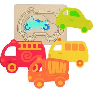 Schichtenpuzzle Fahrzeuge, per St