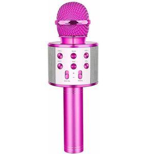 Bluetooth Karaoke Mikrofon Kinder, 4-in-1 Kinder Karaoke mit Mikrofon, Tragbares Mikrofon mit Lautsprecher Led, Zuhause Party Karaoke Dynamische Bluetooth Mikrofone