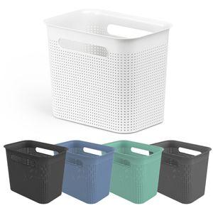 Rotho Brisen, Aufbewahrungsbox, Cappuccino, Rechteckig, Kunststoff, Einfarbig, Innenraum