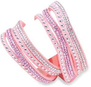 IRINA Damen Strass Armband Wickelarmband