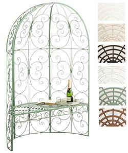 CLP Halbpavillon Rosie mit Sitzbank, Farbe:antik-grün