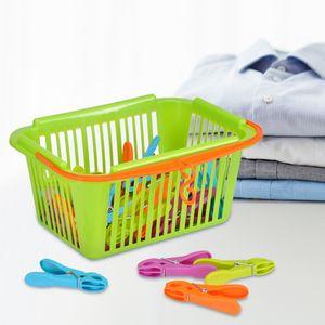 Wäscheklammern im Korb, 30 Stück
