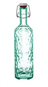 3x Bormioli Rocco Bügelflaschen 1 Liter grün 33 cm hoch inkl. Gummidichtung   Metallbügelverschluss
