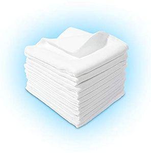 10 Stück - Stoffwindeln Stoffwindel Mullwindeln Spucktuch Spucktücher 60x80cm WEISS aus 100% Baumwolle
