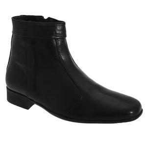 Scimitar Herren Boots / Stiefelette / Stiefel mit niedrigem Absatz DF189 (45,5 EU) (Schwarz)