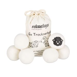 relaxdays 6x Trocknerbälle
