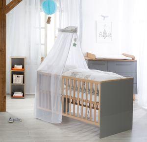 roba Kinder-Bettgarnitur 4-tlg, Babybettausstattung Sternenzauber, Kinderbettset, Bettwäsche 100x135 cm (Decke & Kissen), Nestchen, Himmel