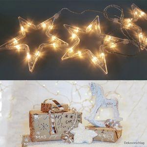 LED Lichterkette 5 Sterne Fenster-Weihnachtsbeleuchtung