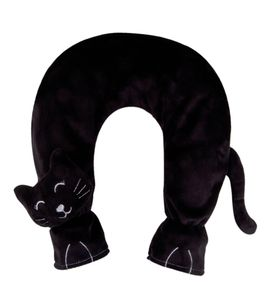 Nackenwärmflasche Flausch Bezug Katze schw. Gummiwärmflasche 2L Wärmflasche BWI