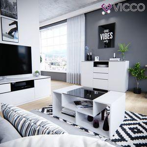 Vicco Couchtisch Gabriel Weiß 100 cm Sofatisch Kaffeetisch Beistelltisch Ablage
