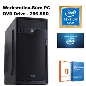 Büro PC - Office PC - Intel® Pentium® Gold-Prozessor G6400 4GHz - 8GB DDR4 Ram - 256GB SSD - Windows 10 Pro - Microsoft Office - 4k UHD