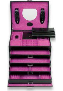 WINDROSE Merino Moda Jewelry Box Black