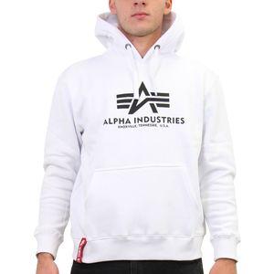 Alpha Industries Basic Hoodie Kapuzenpullover Herren Weiß (178312 09) Größe: 2XL