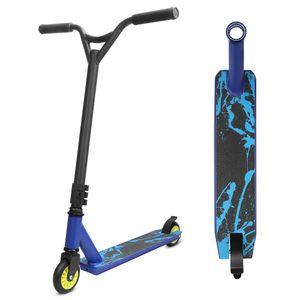 Stunt Scooter Freestyle Tretroller YOLEO Pro Scooter Kickscooter Roller für Kinder und Erwachsene Tragfähigkeit: 100 kg ABEC 7 Steel Y Lenker (blau)