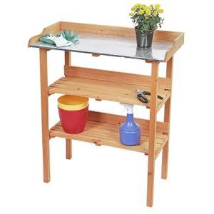 Holz Pflanztisch Garten Arbeitstisch Gartentisch Gärtnertisch Blumentisch Tisch