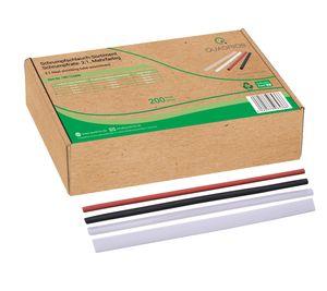 Schrumpfschlauch Set Sortiment 200 St 2:1 Schwarz Weiß Rot Transparent 20 cm Öko