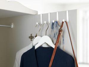 Türgarderobe Türhaken Handtuchhaken 4er Set Haken zum einhängen Edelstahl weiß