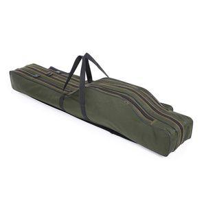 3 Fach 130cm Angeltasche Rutentasche Rutenfutteral Aussentaschen
