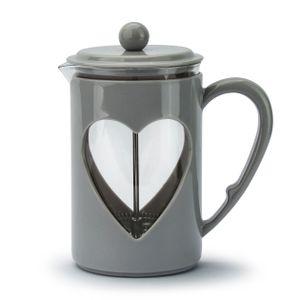 FRENCH PRESS 0,8 L Kaffeebereiter Kaffeekanne aus Glas und Kunststoff Neu LOVELY