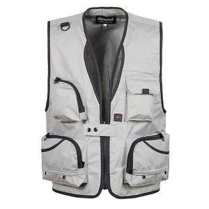 Jagdweste Anglerweste Mulltifunktionsweste Multi-Taschen Design Outdoor Sports 1 4XL Hellgrau