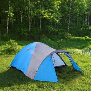 Igluzelt 3 Personen 210+120x130cm 3000mm Kuppelzelt Trekkingzelt Campingzelt