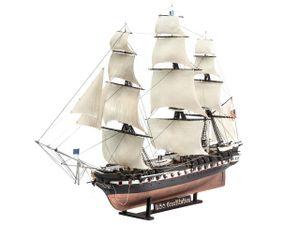 Revell U.S.S. Constitution, 1:146, Segelschiff, Montagesatz, U.S.S. Constitution, Kunststoff, Obere Mittelstufe