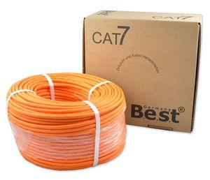 AT.7 Verlegekabel BEST Gigabit Netzwerkkabel KUPFER Lan 1000Mhz S/FTP KAT 7
